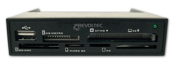 CardReader Revoltec Procyon intern 1.5 per 3,5  Black, Retail