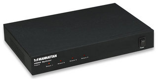 Cavo MANHATTAN Video Splitter HDMI-Bu.> 4x HDMI-Bu. [bk]