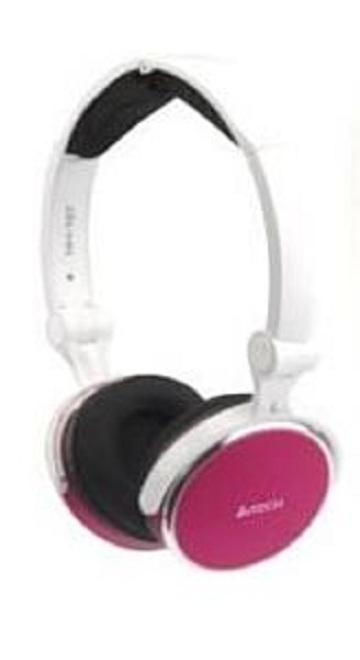 Headset A4TECH STEREO L-600-4 inkl. Mic. klappbar rot